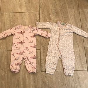 Set of 2 baby girl jumpsuits